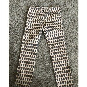 Tory Burch Printed Pants size 26
